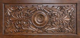 被雕刻的模式木头 免版税库存照片