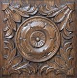 被雕刻的模式木头 免版税库存图片