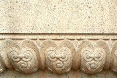 被雕刻的模式石头 免版税库存图片