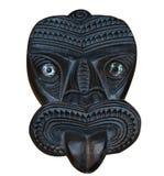 被雕刻的毛利人屏蔽tiki木头 免版税库存照片