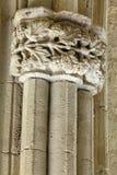 被雕刻的石工作在Bellapais修道院,塞浦路斯里 库存照片