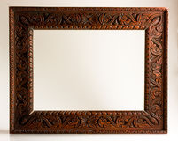 被雕刻的空的框架照片 免版税图库摄影
