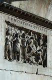 被雕刻的罗马石头 库存图片