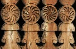 被雕刻的老木头 库存照片
