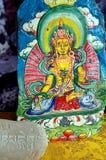被雕刻的藏语 库存照片
