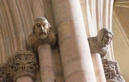 被雕刻的雕象头在教会里 库存照片