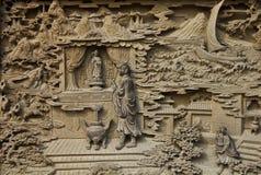 被雕刻的guan木yin 免版税库存照片