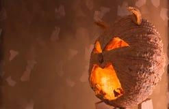 被雕刻的万圣节南瓜 免版税库存照片