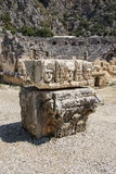 被雕刻的希腊面具 库存图片