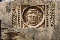 被雕刻的希腊面具 免版税库存图片