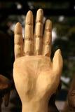 被雕刻的手-中止 免版税库存图片