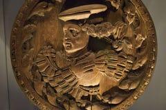 被雕刻的新生廷臣奉承者-苏格兰 库存图片