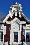 被雕刻的木制框架 俄国 库存照片