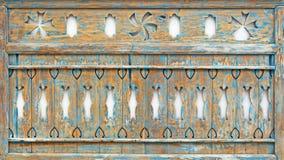 被雕刻的木甲板 免版税库存照片