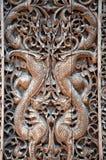 被雕刻的木盘区 免版税库存照片