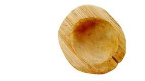 被雕刻的木碗 库存照片