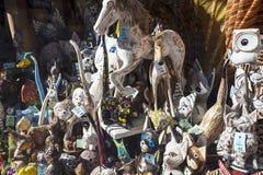 被雕刻的木装饰品在市克拉科夫在波兰 库存图片