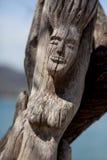 被雕刻的木雕塑 免版税库存图片
