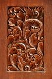 被雕刻的木头纹理  库存照片