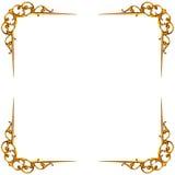 被雕刻的框架的金黄要素 图库摄影