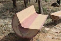 被雕刻的椅子 免版税库存照片