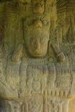 被雕刻的玛雅石头, Quirigua废墟,危地马拉 免版税图库摄影