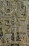 被雕刻的玛雅石头, Quirigua废墟,危地马拉 免版税库存图片
