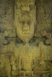 被雕刻的玛雅石头, Quirigua废墟,危地马拉 图库摄影