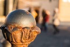 被雕刻的球形 库存图片