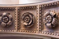 被雕刻的石花 免版税库存照片