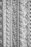 被雕刻的石装饰,教会外 免版税库存照片