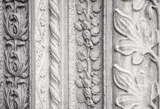 被雕刻的石装饰,教会外 图库摄影
