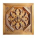被雕刻的老木样式 库存照片