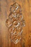被雕刻的装饰品木头 免版税库存照片