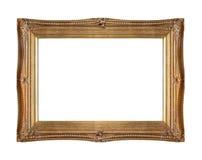 被雕刻的金框架 免版税库存图片
