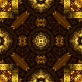 被雕刻的金黄装饰品,无缝的样式纹理。 免版税库存图片