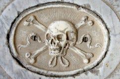 被雕刻的头骨 库存图片