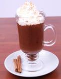 被鞭打的巧克力奶油色热 库存照片