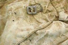 被风化的军事帆布袋子织地不很细背景 免版税图库摄影