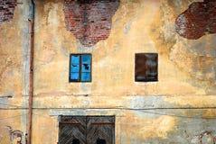 被风化的墙壁 库存照片