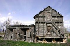 被风化的大厦农场 免版税库存图片