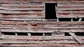 被风化的木板条谷仓背景 免版税库存照片