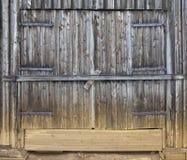 被风化的木门细节 图库摄影