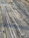 被风化的甲板 库存照片