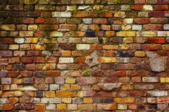 被风化的砖墙背景 免版税库存图片