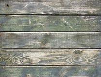 被风化的绿色板条 库存图片