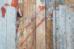 被风化的老木被绘的甲板纹理 库存照片