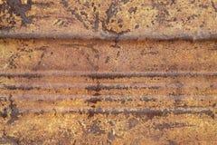 被风化的老生锈的金属纹理 免版税库存照片