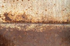 被风化的老生锈的金属纹理 免版税库存图片