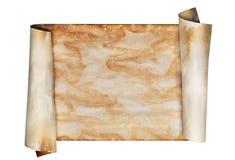 被风化的老羊皮纸滚动 免版税库存图片